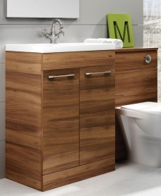 Cairo Walnut  Combo - Special Offer* - includes E100 toilet, choice of Quartz, Sutton, Horley or Poole tap and waste