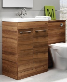 Porto Combo Walnut - Special Offer* - includes QUADRO  toilet, choice of tap & waste