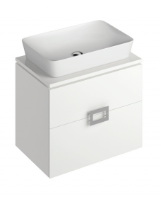 Katie White 65 CounterTop Vanity Unit and Enya Basin