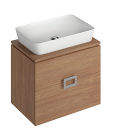 Katie Walnut 65 CounterTop Vanity Unit and Enya Basin