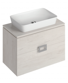 Katie Light Wood 80 CounterTop Vanity Unit and Enya Basin ** 50% Off While Stocks Last