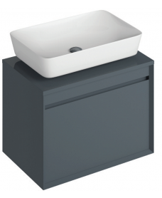 Reflex Antracite 65 CounterTop Vanity Unit and Enya Basin