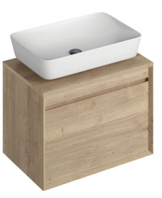 Reflex Halifax Oak 65 CounterTop Vanity Unit and Enya Basin