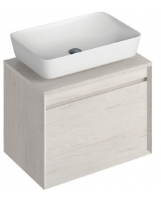 Reflex Light Wood 65 CounterTop Vanity Unit and Enya Basin