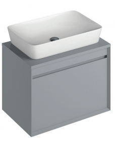 Reflex Pearl Grey 65 CounterTop Vanity Unit and Enya Basin