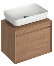 Reflex Walnut 65 CounterTop Vanity Unit and Enya Basin