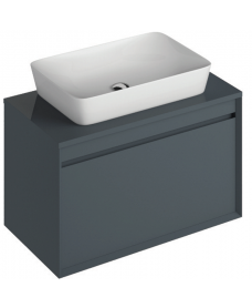 Reflex Antracite 80 CounterTop Vanity Unit and Enya Basin