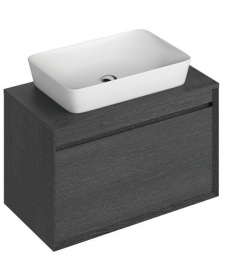 Reflex Dark Wood 80 CounterTop Vanity Unit and Enya Basin