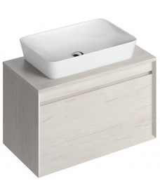 Reflex Light Wood 80 CounterTop Vanity Unit and Enya Basin