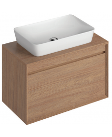 Reflex Walnut 80 CounterTop Vanity Unit and Enya Basin