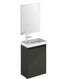 Dijon Gloss Grey 45 Wall Hung Vanity Unit and Mirror.