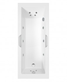 Cadenza Single Ended 12 Jet Bath 170X70 White