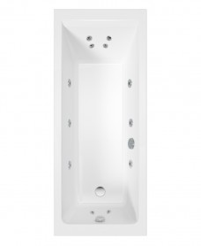 Cubo 1700x700 Single Ended 12 Jet Bath
