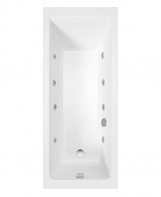 Cubo 1600x700 Single Ended 8 Jet Bath