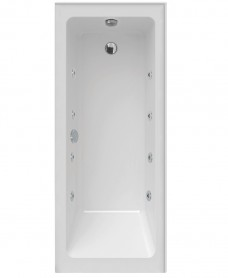 Piazza Single Ended 1700 x 700 Left Handed 8 Jet Whirlpool Bath With Upstands