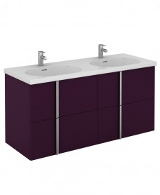 Avila 120 Unit 4 Drawer Aubergine & Idea Basin