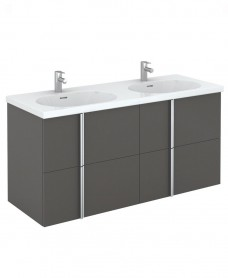 Avila 120 Unit 4 Drawer Gloss Grey & Idea Basin