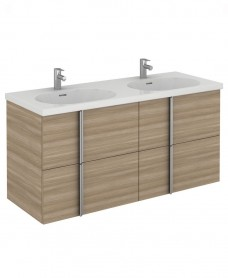 Avila 120 Unit 4 Drawer Walnut & Idea Basin
