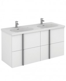 Avila 120 Unit 4 Drawer White & Idea Basin