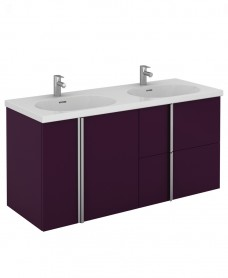 Avila 120 Unit 2 Drawer 2 Door Aubergine & Idea Basin