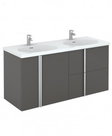 Avila 120 Unit 2 Drawer 2 Door Gloss Grey & Idea Basin