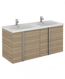Avila 120 Unit 2 Drawer 2 Door Walnut & Idea Basin