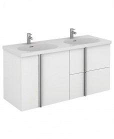 Avila 120 Unit 2 Drawer 2 Door White & Idea Basin