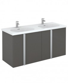 Avila 120 Unit 4 Door Gloss Grey & Idea Basin