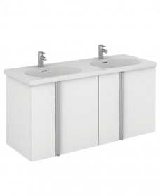 Avila 120 Unit 4 Door White & Idea Basin