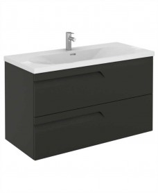 Brava 100 Gloss Grey 2 Drawer Unit & Idea Basin