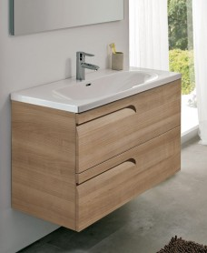 Brava 100 Walnut 2 Drawer Unit & Idea Basin