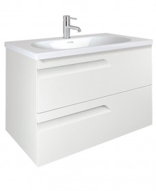 Brava 100 White 2 Drawer Unit & Idea Basin
