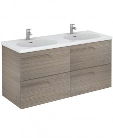 Brava 120 Ash 4 Drawer Unit & Idea Basin