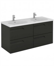 Brava 120 Gloss Grey 4 Drawer Unit & Idea Basin
