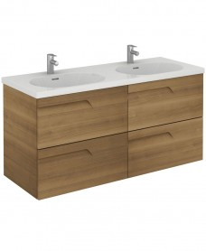 Brava 120 Walnut 4 Drawer Unit & Idea Basin