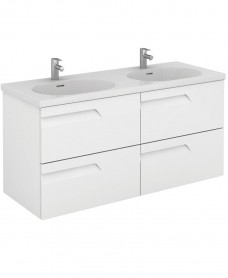 Brava 120 White 4 Drawer Unit & Idea Basin