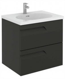 Brava 60 Gloss Grey 2 Drawer Unit & Idea Basin