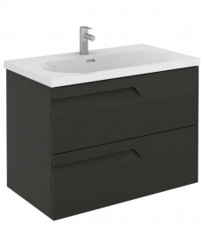 Brava 80 Gloss Grey 2 Drawer Unit & Idea Basin