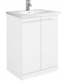 Brava 60 White Floor Standing Vanity Unit and IDEA Basin