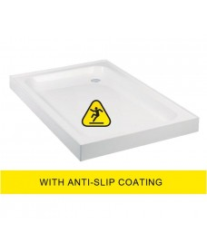 JT Ultracast 900x800 Rectangle Upstand Shower Tray - Anti Slip