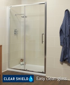 K2 1400mm Sliding Shower Door - Adjustment 1360 -1420mm