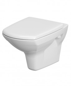 Carina Rimless Wall Hung Pan with horizontal outlet including soft close seat