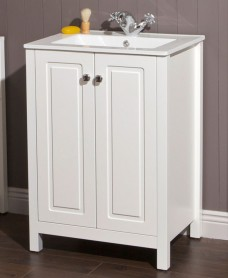 Kingston 60 Chalk White Vanity Unit & Toledo Basin