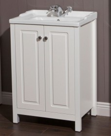 Kingston 60 Chalk White Vanity Unit & Victoria Basin