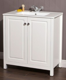 Kingston 80 Chalk White Vanity Unit & Toledo Basin