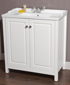 Kingston 80 Chalk White Vanity Unit & Victoria Basin