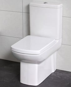 Lara Fully Shrouded Toilet with Soft Close Seat - ECO Flush