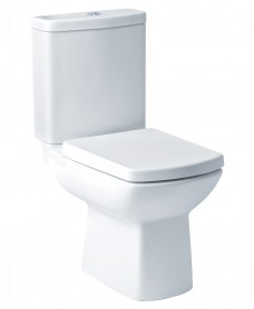 Lara Close Coupled Toilet with Soft Close Seat - ECO Flush