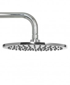 Leena Round 200mm Chrome Shower Head & 300mm Wall Shower Arm