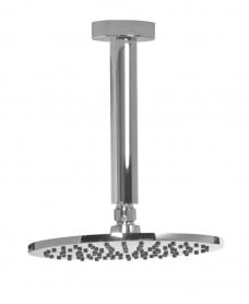 Leena Round 200mm Chrome Shower Head & 200mm Ceiling Shower Arm